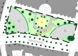 Planentwurf der Grünfläche an der Weberstr., welche von den Teilnehmer priorisiert wurde