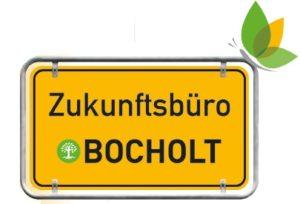 """Ortsschild """"Zukunftsbüro Bocholt"""" als Logo"""